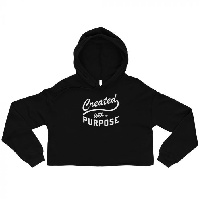 Created With a Purpose Crop Hoodie