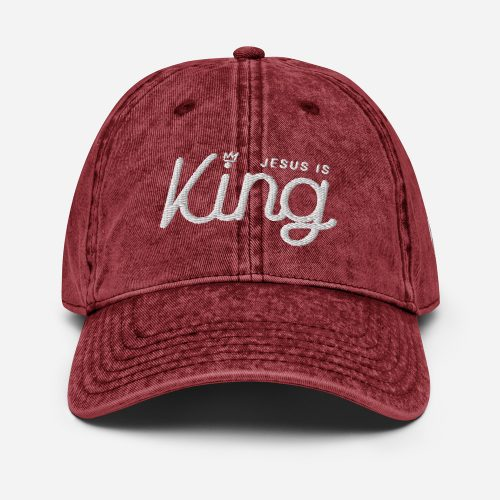Jesus is King Cotton Twill Cap