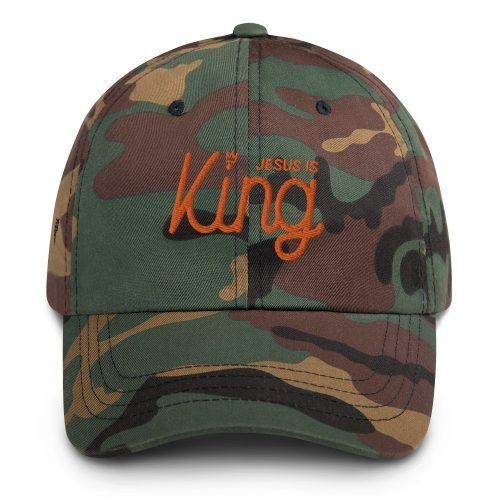 Jesus Is King Camo Dad hat