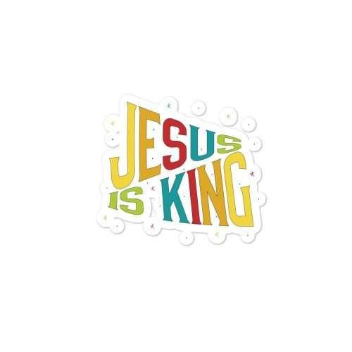 Jesus is King Sticker