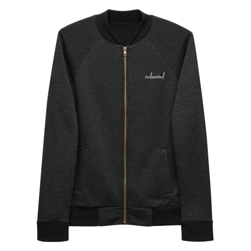 Redeemed Embroidered Bomber Jacket